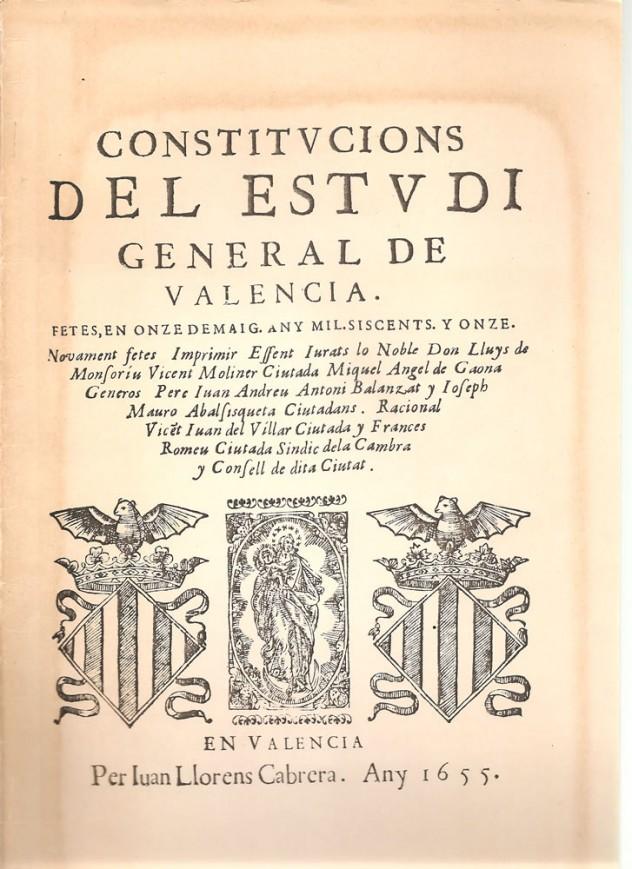 Constitucions del Estudi General de Valencia